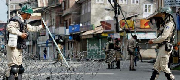 Occupied Kashmir curfew IoK Muharram processions Muharram procession medicines Special status