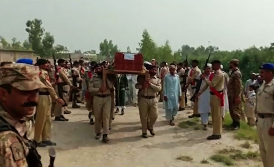 Soldiers who martyred at Western Border laid to rest in their hometowns