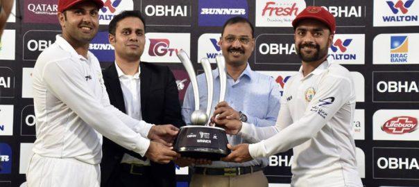 Rashid Khan, leads, Afghanistan, famous, Test, win, Bangladesh