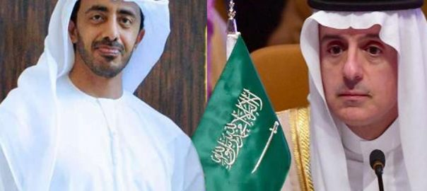 Saudi UAE foreign ministers FM Shah Mehmood Qureshi Pakistan
