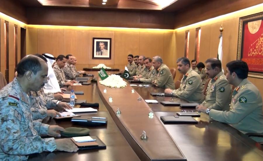 Saudi Commander Lt Gen Fahad Bin Abdullah calls on COAS Gen Qamar Bajwa