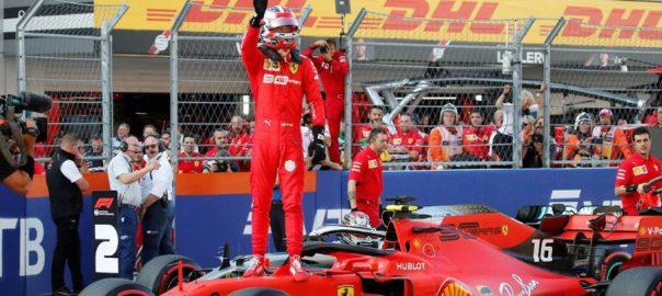 Leclerc, emulates, Schumacher, fourth, pole, row