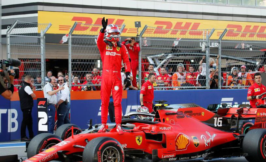 Russian Grand Prix: Leclerc emulates Schumacher with fourth pole in a row