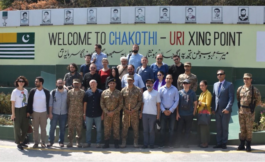 Turkish, journalists, Muzafarabbad, Chakhoti, briefed, Indian CFVs, LoC
