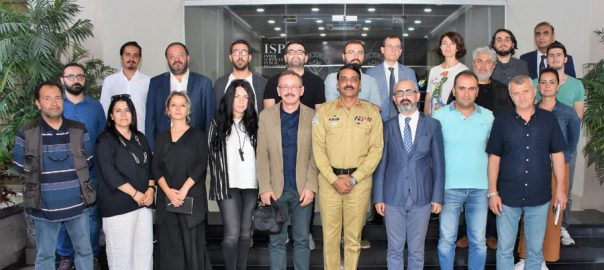 Turkish, journalists, visit, ISPR, briefed, Pak-India February, standoff, human rights, violations, siege, IOJ&K