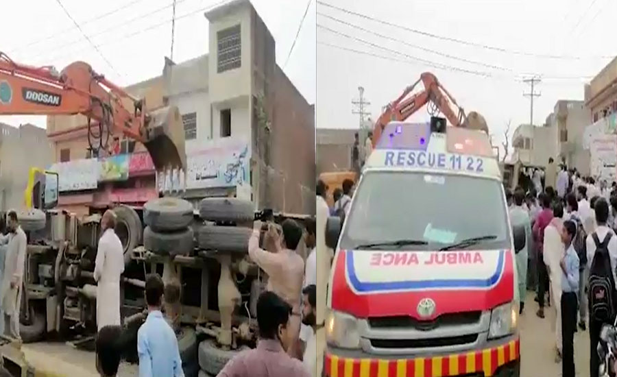 Seven students killed as truck falls on rickshaw in Zafarwal