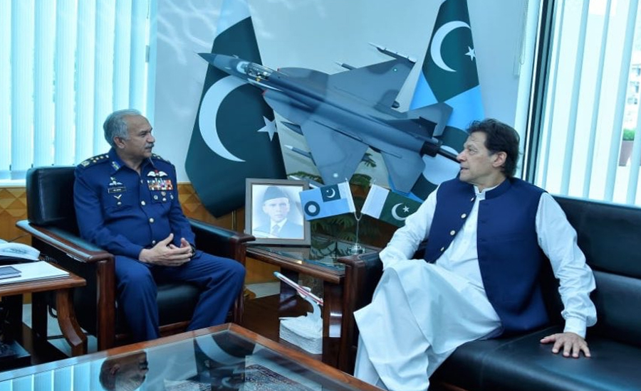 PM Imran Khan lauds PAF's role in ensuring aerial defence in February this year