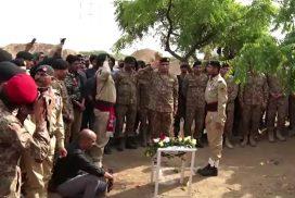Martyred, Major, Adeel Shahid, buried, military honours, ISPR