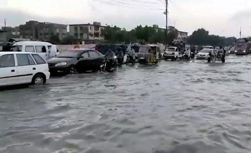 Five, electrocuted, persistent rain, inundates, several, areas, Karachi