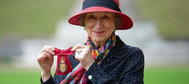 emotional, Margaret Atwood ,author ,Order of the Companions of Honour ,services ,literature ,ceremony