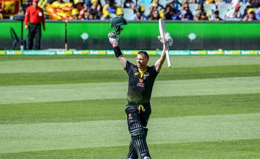 Warner hits ton as Australia rout Sri Lanka