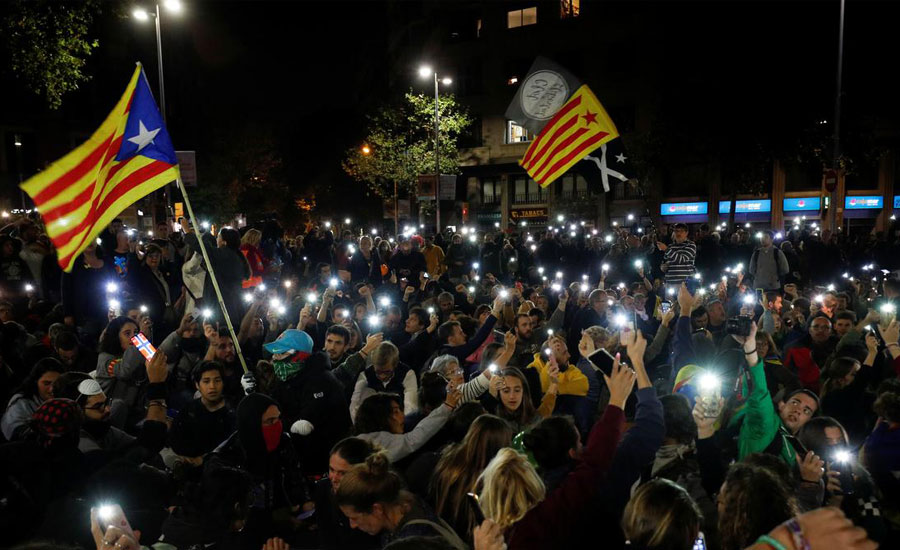 Catalan, leader, urges, Spain, start,talks, self-determination