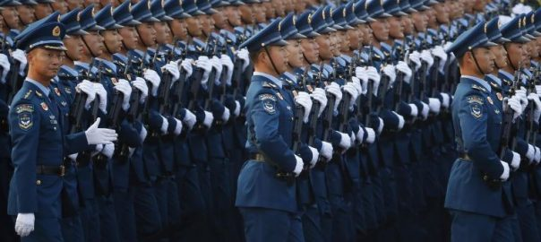 China, flexes, military, muscle, mark, 70 years, Communist rule