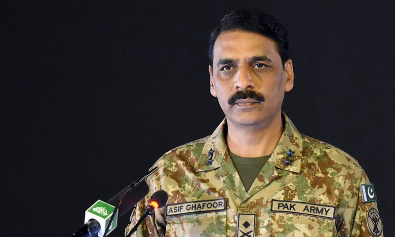 DG ISPR Indian army chief's camps in AJK Magor general Asif Ghafoor Indian army chief statement destroying camps in AJK
