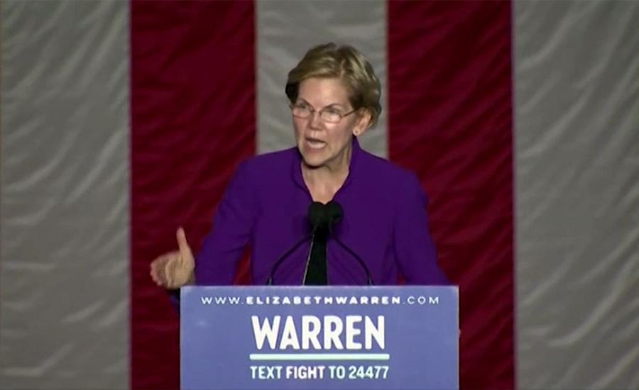 US presidential candidate Elizabeth Warren expresses concern over IOK situation