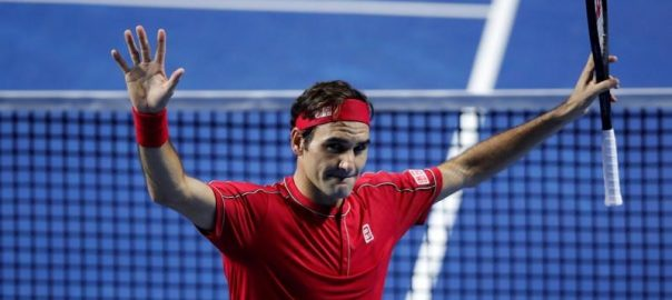 Roger Federer ,Greek ,Stefanos Tsitsipas ,semi-finals ,Swiss Indoors championships ,Basel ,50th win ,season