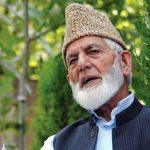 Gilani Pakistan Kashmiris support extending support Syed Ali Gilani