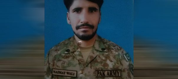 Sepoy Naimat Wali martyred Indian forces' firing along LOC RAWALPINDI 92 News Pakistani soldier