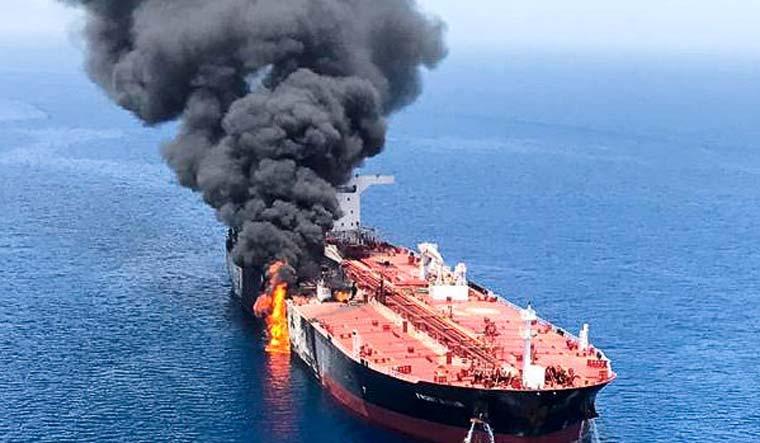 Iran oil tanker hit by two missiles off Saudi coast: Iranian state media