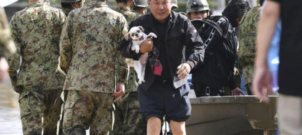 Japan typhoon troops thousand of troops massive typhoon hammers
