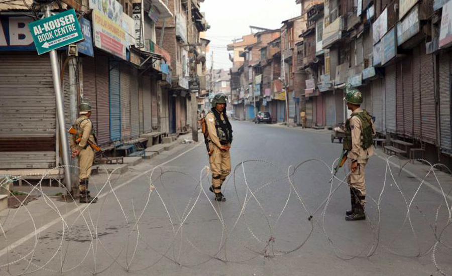 Normal Life IoK indian Occupied Kashmir 79th day badly hit Section 144 CRPF K9 unit