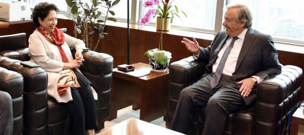 Maleeha Lodhi, role, improving, credibility, Pakistan, Guterres