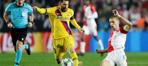 Messi Barca Slavia slavia prague Prague Champion league