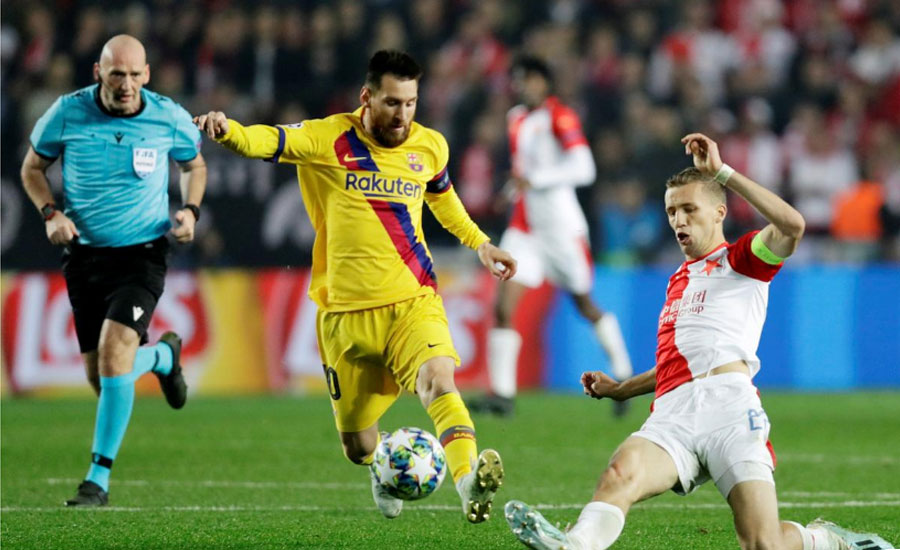Messi Barca Slavia slavia prague Prague Champion league