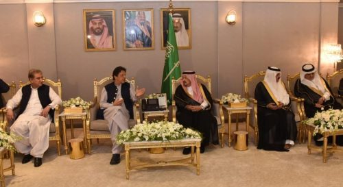 PM Imran Khan, reaches, Saudi Arabia, reduce, Saudi-Iran tension