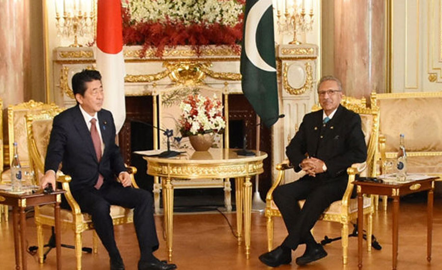 President urges Japanese PM to play role for ending HR violations in IoK