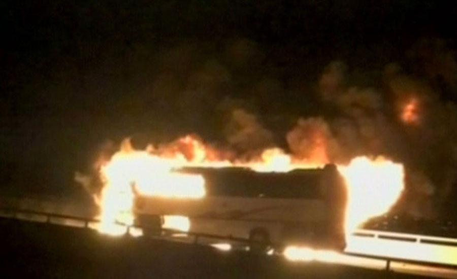 Madinah Bus crash Saudi bus crash accident bus collide 35 killed