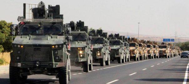 Civilians, flee, Syrian border, towns, Turkish, warplanes, artillery, kick off, offensive