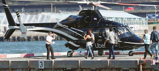 Uber airport helicopter taxis NY New York