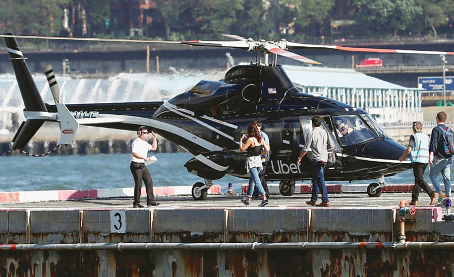 Uber makes airport helicopter taxis available to all NY users