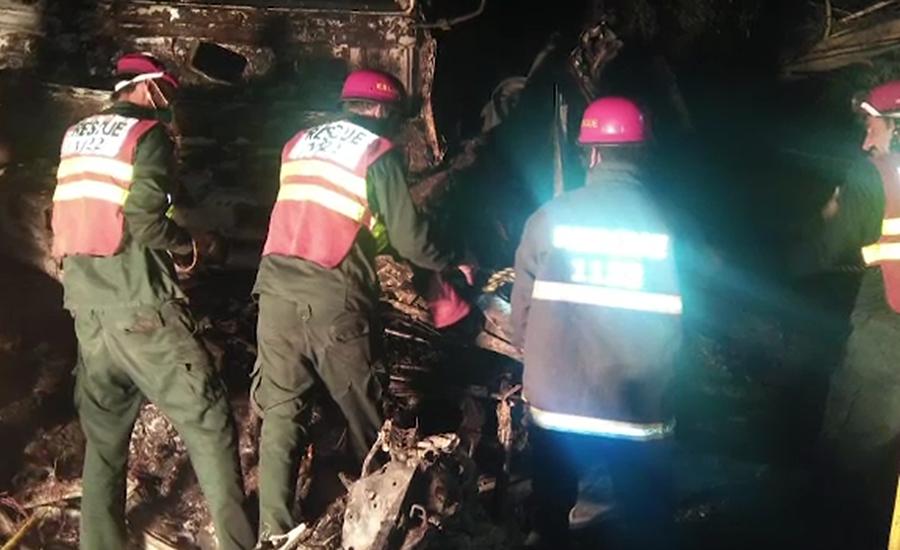 92 News ambulance Mianwali Mianwali accident Multan road trailer collission