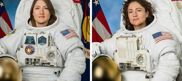 US, makes, history, all-female, spacewalk