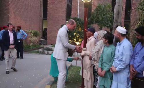 On the fifth day of their first royal tour of Pakistan