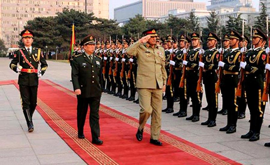 COAS visits PLA headquarters, discusses Kashmir issue