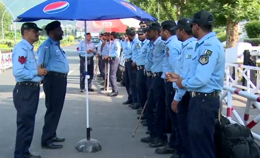 Police officers' leaves cancelled ahead of JUI-F's Azadi March