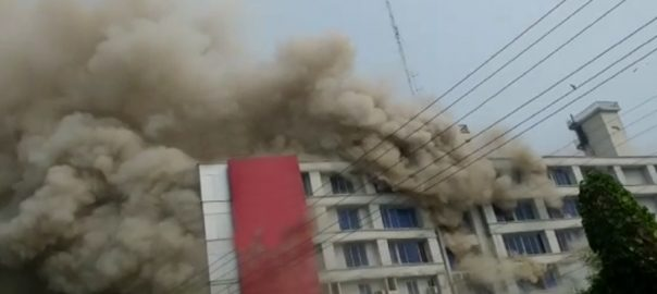 fire Gujrat Woman burns Gujrat fire breaks out shopping mall fire tenders