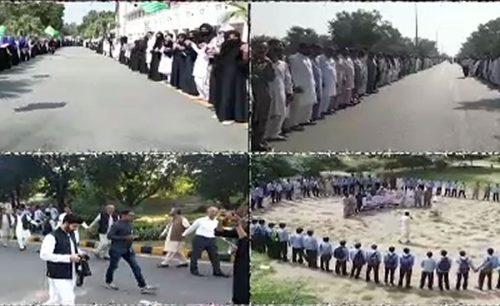 Modi Annexing PM Imran khan Imran khan Kashmir illegally kashmir Narendra modi human chain formed