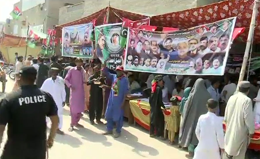 Vote count begins as polling ends for PS-11 Larkana-II By-Election