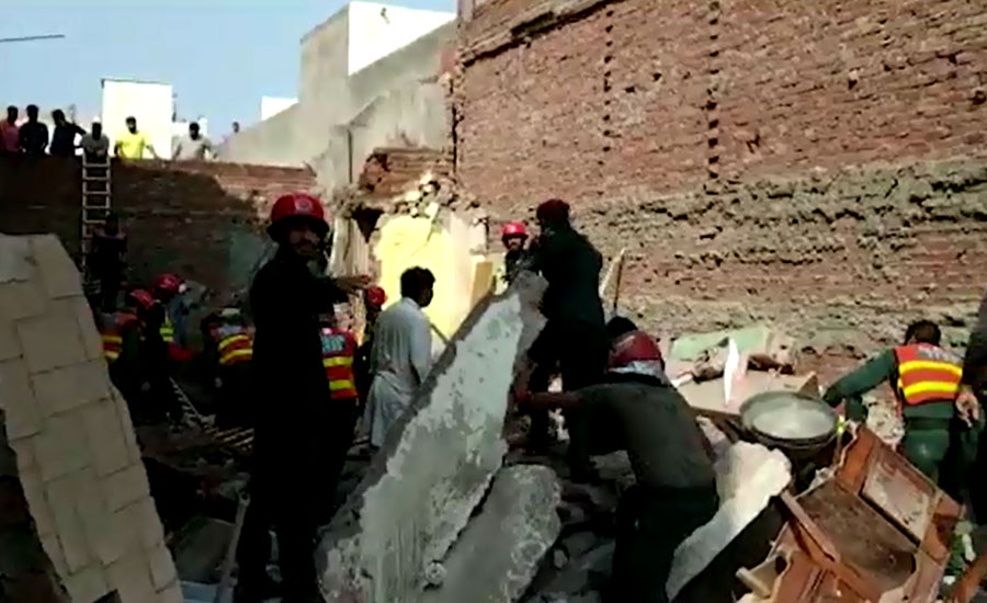 Two killed as roof collapses in Lahore's Samanabad