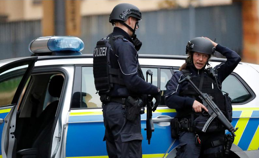 Two killed in shooting at synagogue in Germany, suspects flee in hijacked car