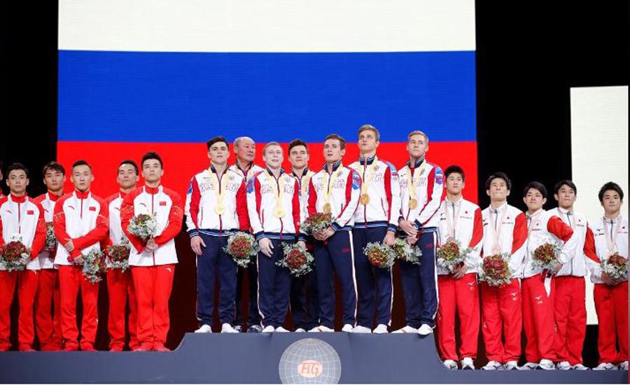Russia's men clinch maiden team title at Gymnastics World Championships