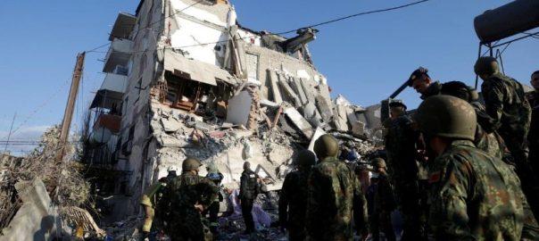 Powerful, quake, kills, 13, Albania, buildings, bury, residents