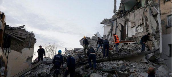 Albania tremor buildings strongest tremor