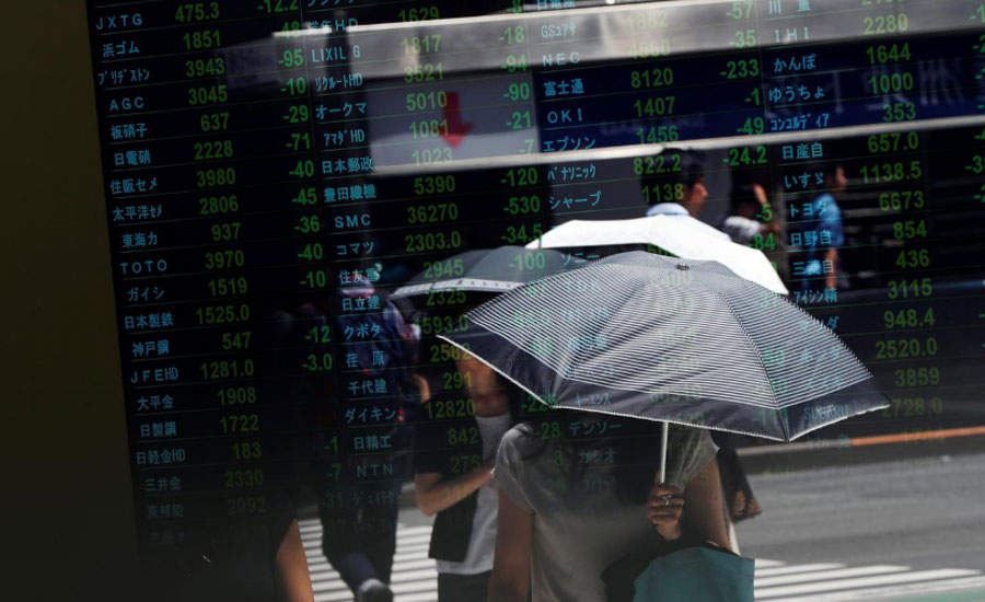 Asian shares trapped in a trade maze, oil nurses losses