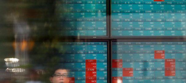 Asian Asian shares trade deal 14-week high
