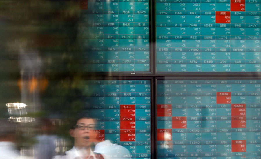 Asian Asian shares trade deal 14-week high